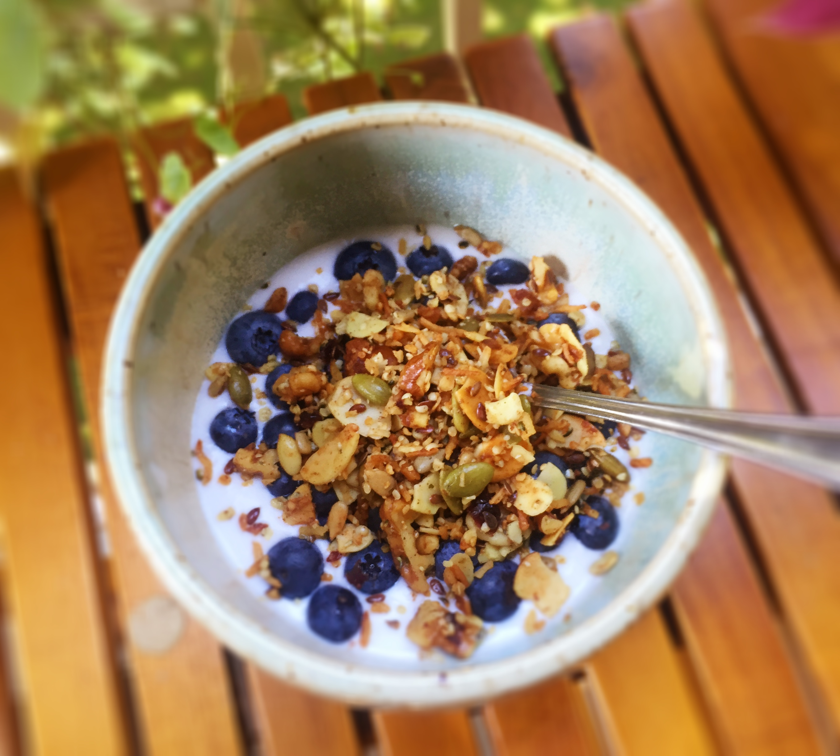 Simple Home made Coconut Yoghurt and Crunchy Grain-Free Granola
